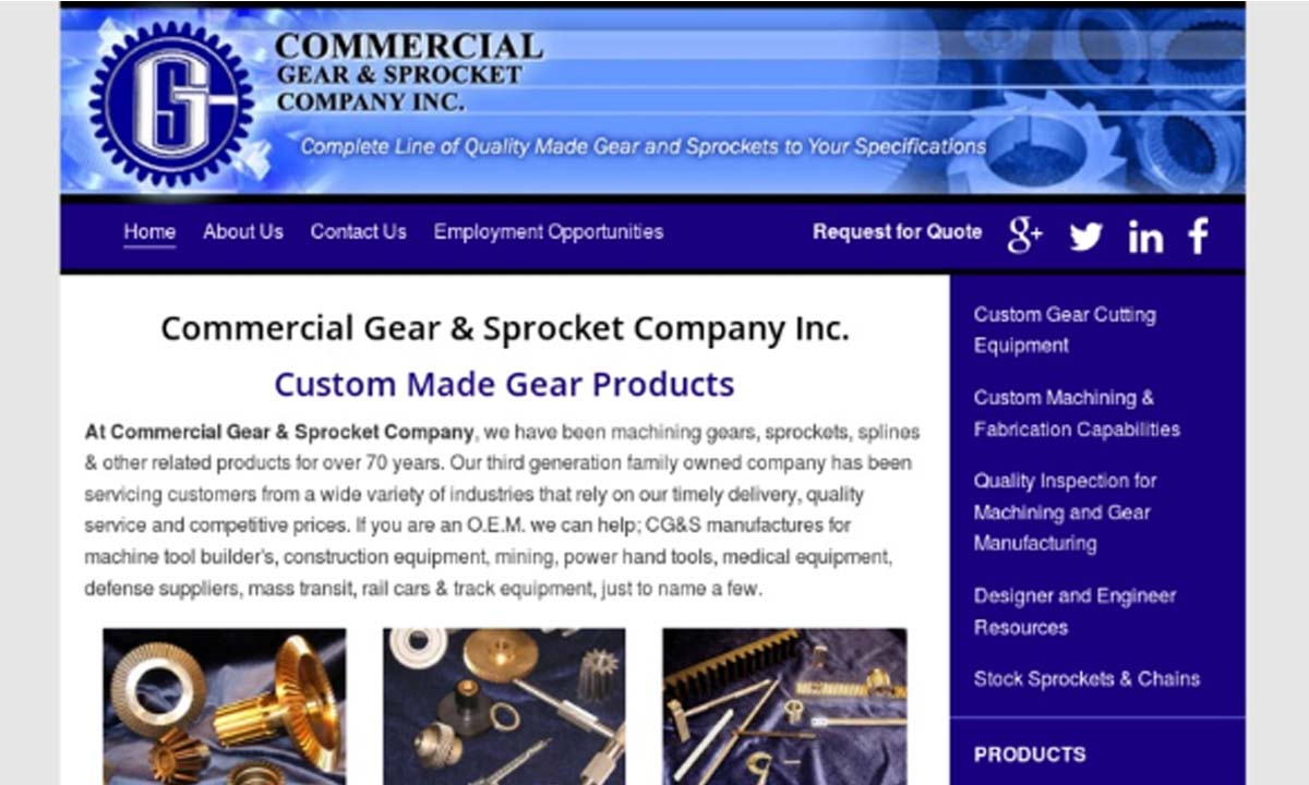 Commercial Gear & Sprocket Company, Inc.