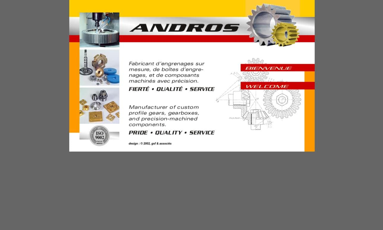Andros Gear Manufacturers