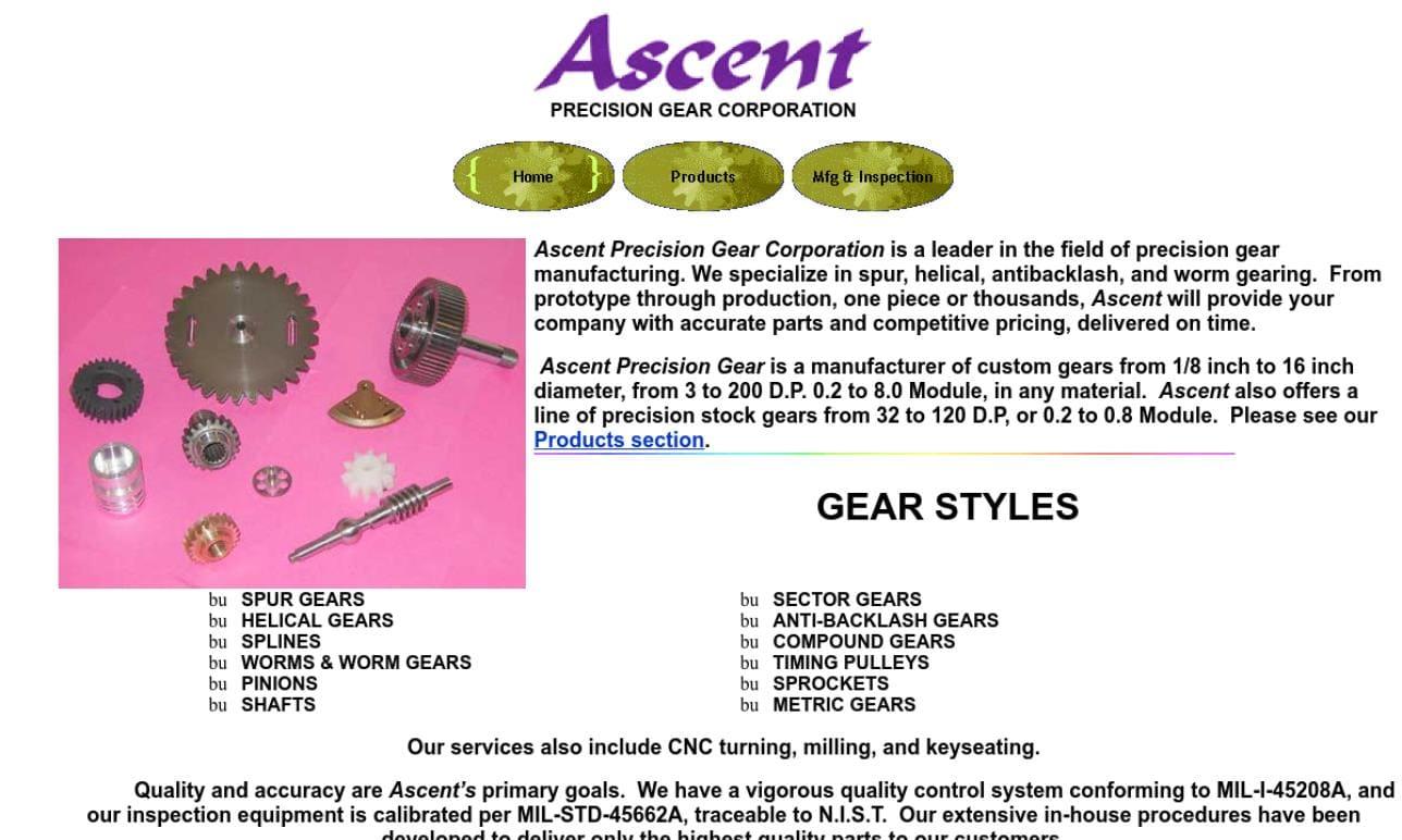 Ascent Precision Gear Corporation