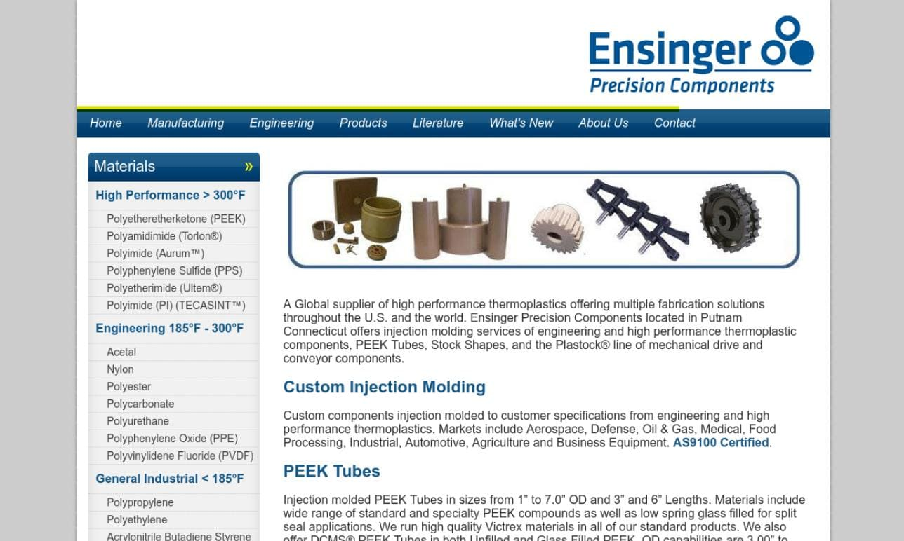 Ensinger Precision Components
