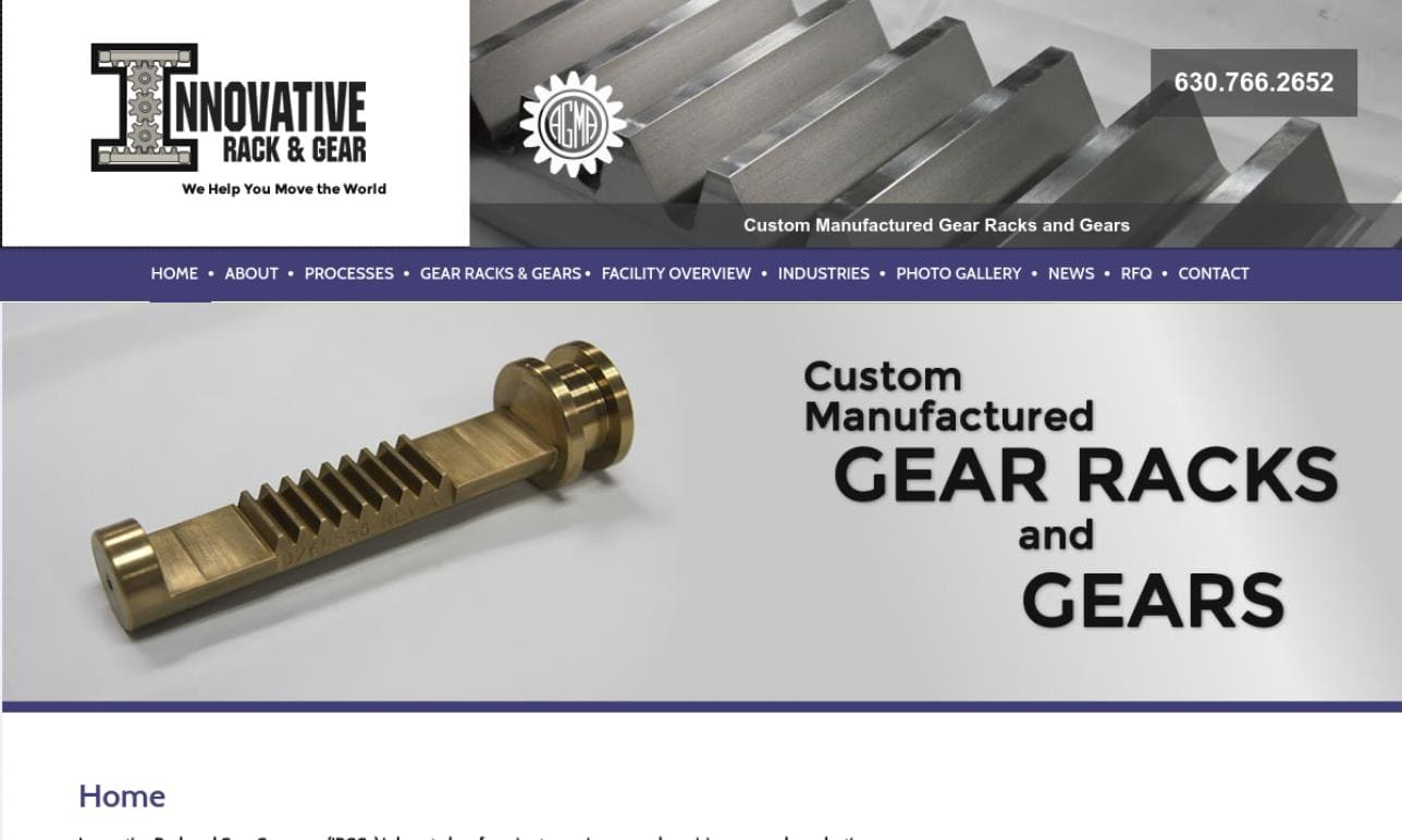 Innovative Rack & Gear Company, Inc.