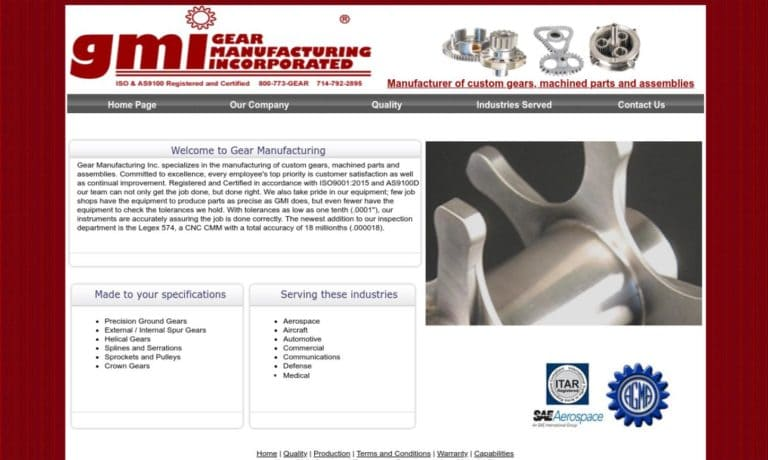Gear Manufacturing, Inc. (GMI)