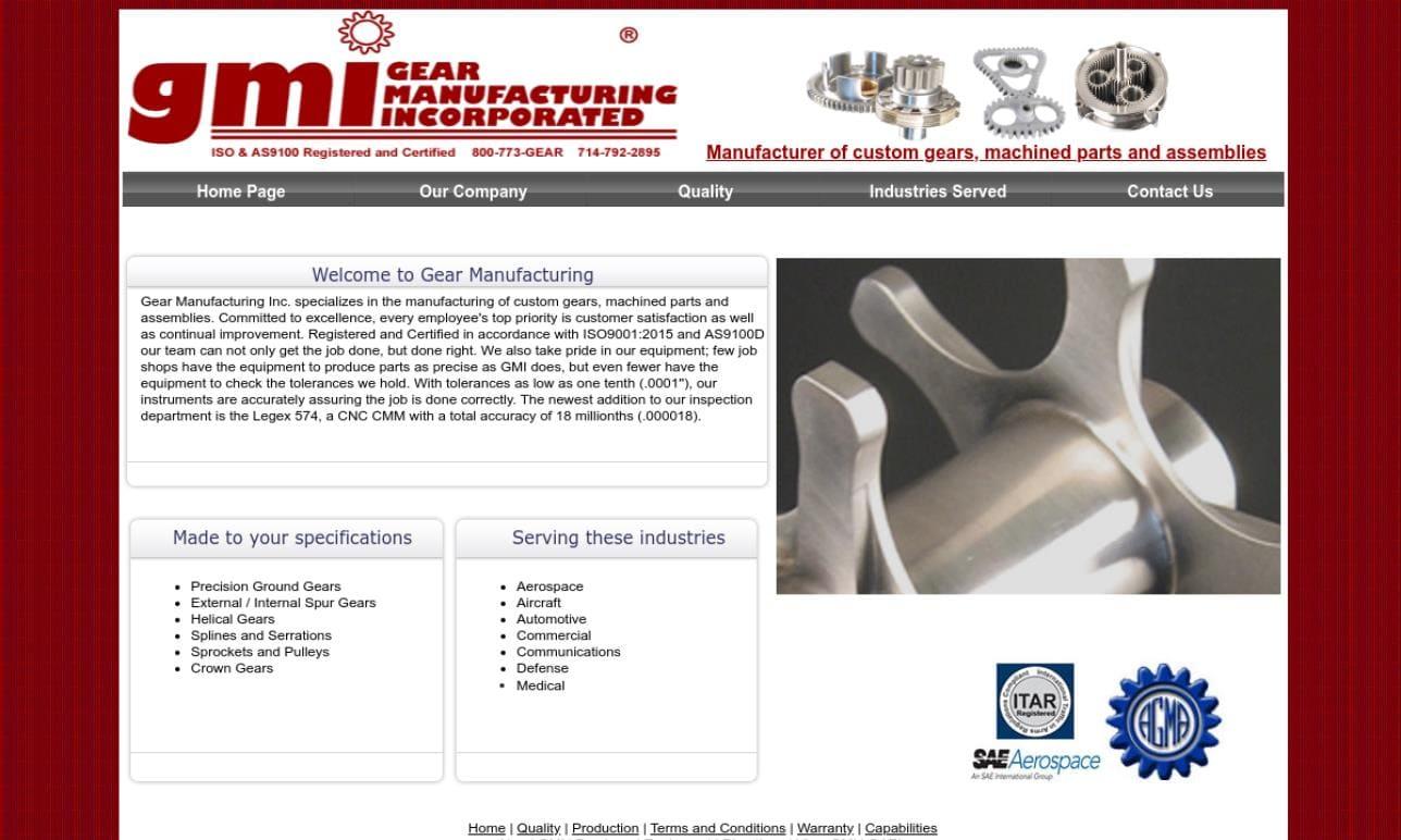 Gear Manufacturing, Inc. (GMI)