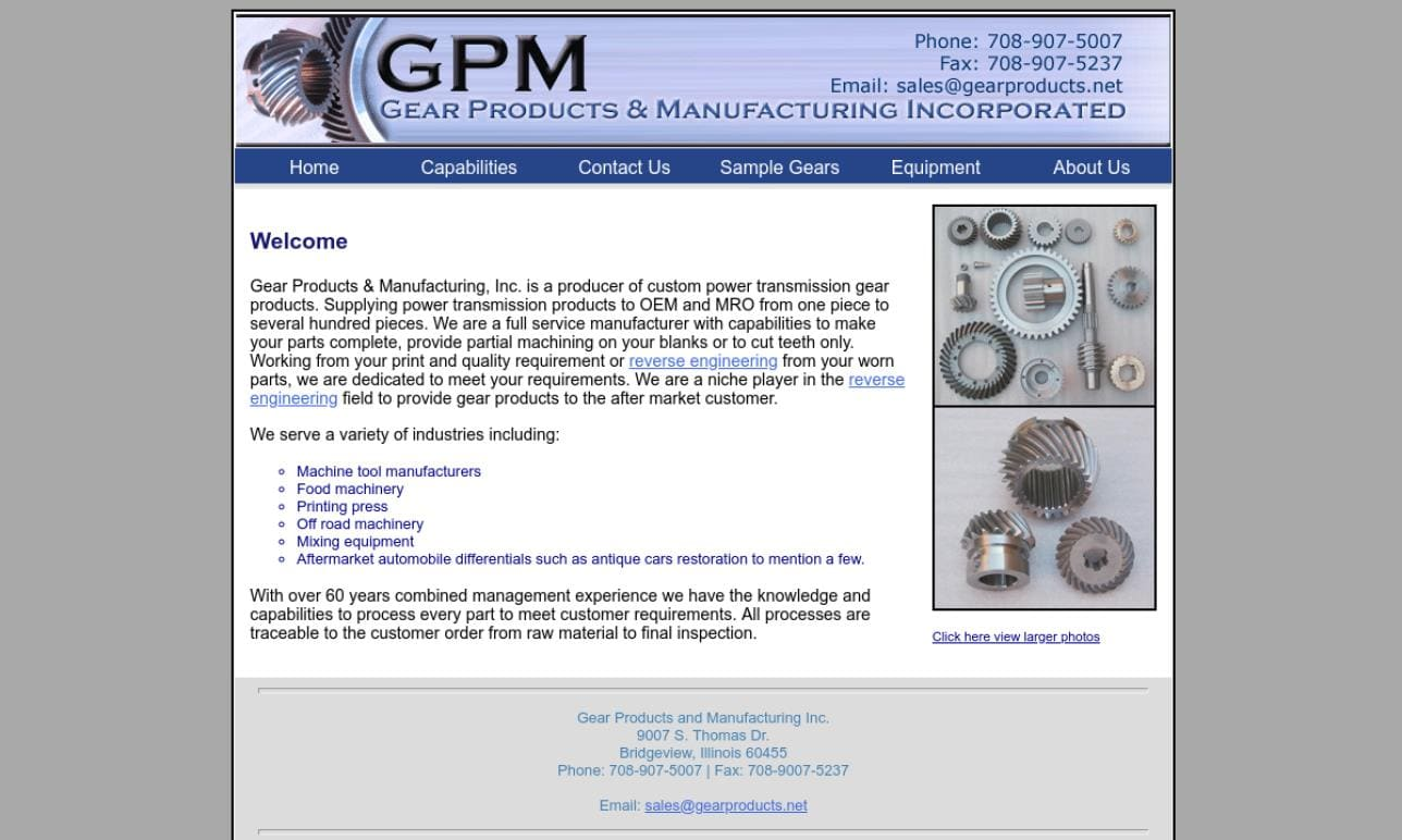 Gear Products & Manufacturing, Inc.