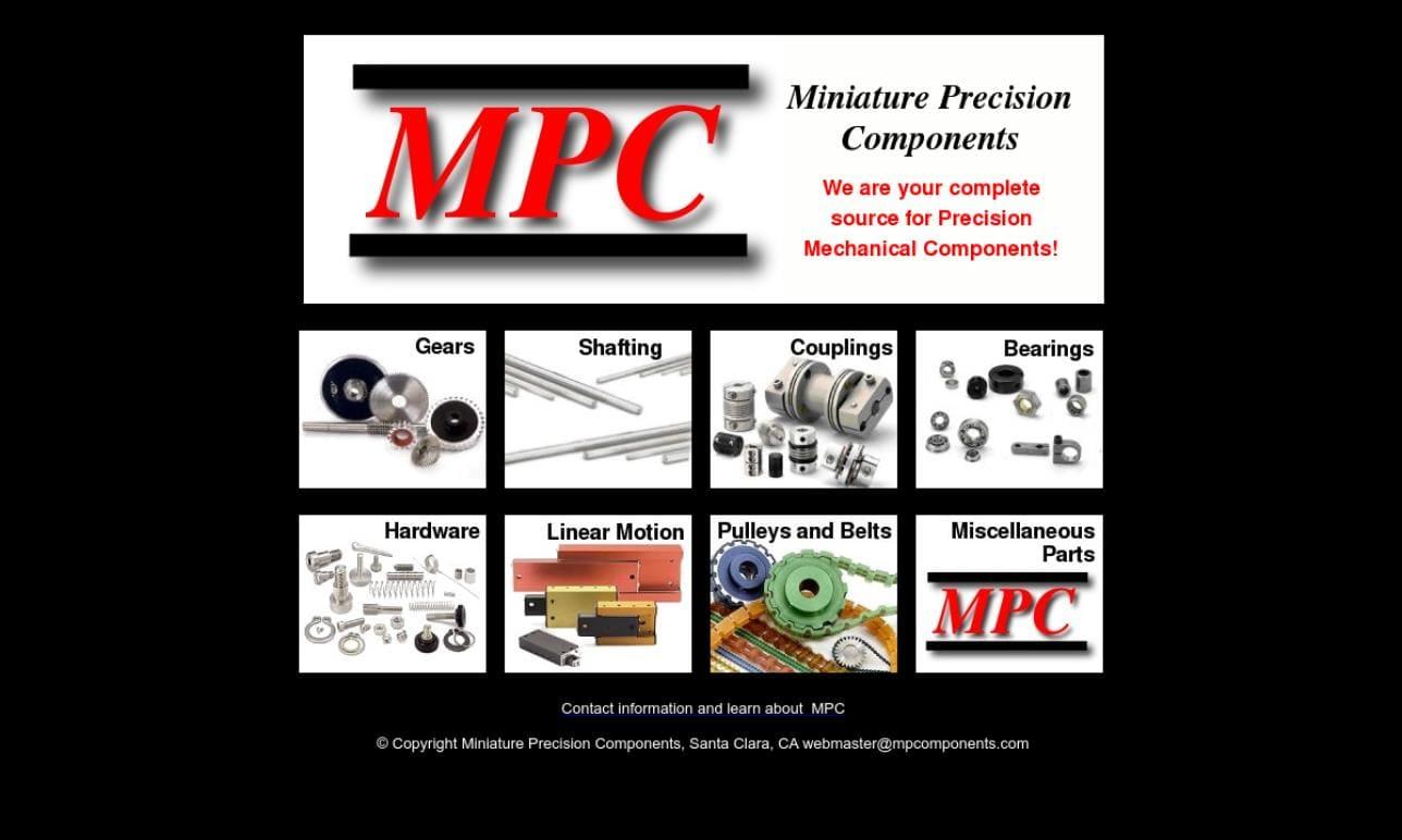 Miniature Precision Components