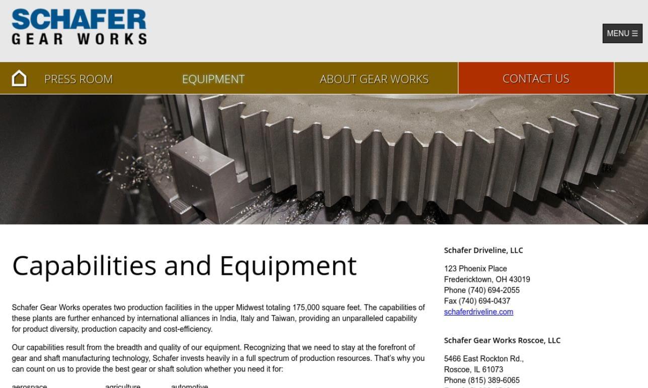 Schafer Gear Works, Inc.