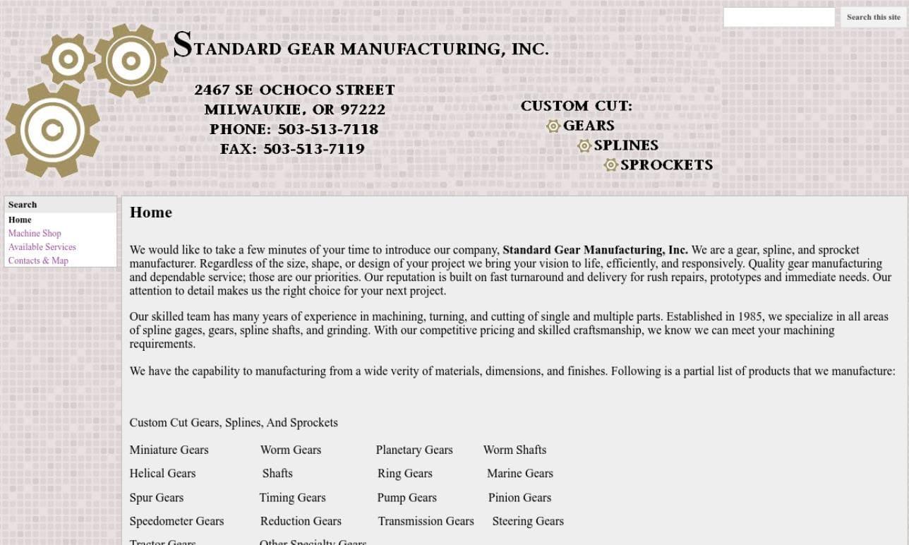 Standard Gear Manufacturing, Inc.